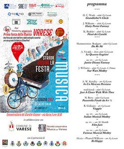 Locandina Festa della Musica Varese
